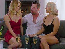 Emborracho a mi mujer y su hermana para hacer un trío - Trios Porno
