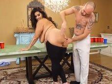 A la gorda y tetona Sofia Rose hay que follársela bien fuerte! - Gordas